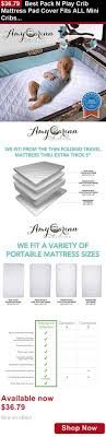 Mini Crib Mattress Cover Mattress Pads And Covers Organic Cotton Waterproof Pack N Play