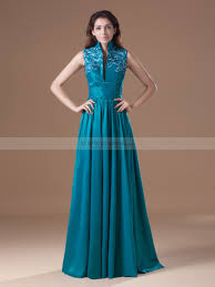 high neck dress embroidered high neck taffeta a line of the dress