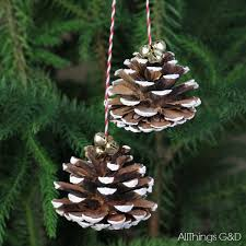 painted pinecones ornament all things g d