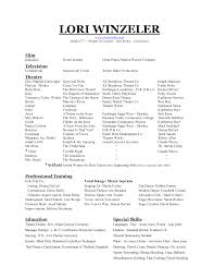 Free Visual Resume Templates Engaging An Acting Dance Resume Template For College 11 Actor Job