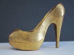 shoe cake topper gold shoe cake topper glitter sparkley sugar glass slipper