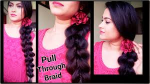 pull through braid hairstyles for medium long hair everyday