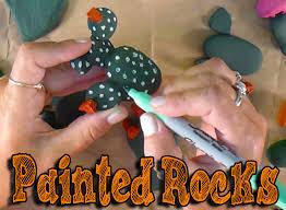 diy painted rocks cactus decoration homemade gift idea kids