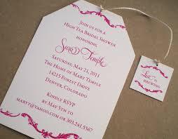 bridal shower tea party invitation wording cimvitation