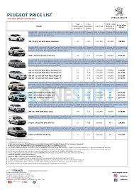 peugeot singapore peugeot singapore printed car price list oneshift com
