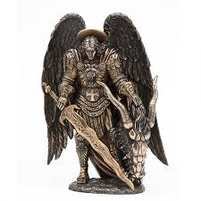 archangel st michael bronze statue by derek w frost christian art