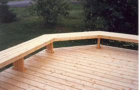 Simple Wooden Bench Design Plans by Use The Bench As A Railing Ground Level Wood Deck With Bench