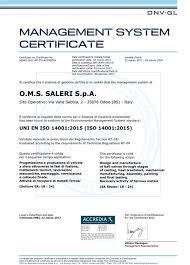 si e oms certification oms saleri