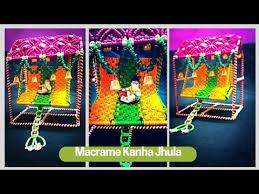 kã chenlen design janmashtami speccial diy simple macrame krishna jhula design
