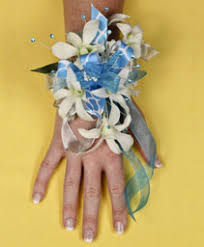 blue corsages for prom corsages autry s 4 seasons florist bend or
