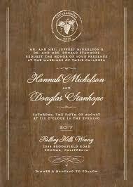 Winery Wedding Invitations Rustic Winery Wedding Invitations By Elli
