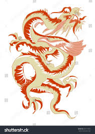 tribal chinese dragon tattoos red tribal chinese dragon tattoo vector stock vector 401712292