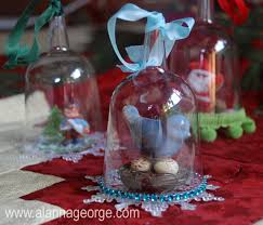 handmade holidays plastic wine glass ornament alanna george