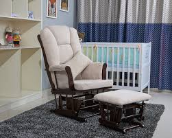 Ottoman For Baby Room Nursery Rocker And Gliders Ottoman Wood Rocking Chair With Padded