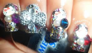 3d cute glitzy nails nail art gallery