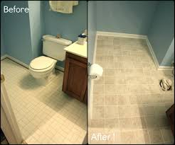 Bathroom Floor Ideas Vinyl Colors Painting Over Bathroom Tile
