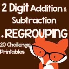 2 digit subtraction with regrouping exit tickets carrying