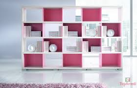 libreria per cameretta ragazzi pink