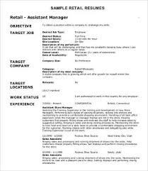 Retail Associate Resume Example by Sample Retail Resumes 9 Free Word Pdf Documents Download