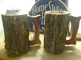 buy a hand crafted set of two rustic mugs in cedar made to order