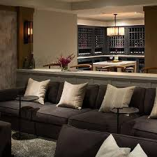 Movie Pit Sofa by Home Theater Contemporary Media Room Hgtv