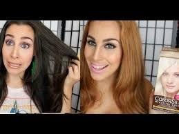 best otc hair bleach dark to blonde hair no damage no bleach youtube