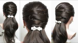 easy everyday hairstyle for long medium youtube