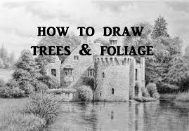 how to draw landscapes trees foliage graphite pencil drawing