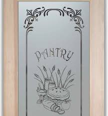 Etched Glass Designs For Kitchen Cabinets Pantry Cabinet Pantry Cabinet With Glass Doors With Adding Glass