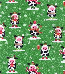 holiday inspirations fabric christmas cows holidays pinterest