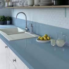 tapis plan de travail cuisine plan de travail stratifié bleu baltique 3 brillant l 300 x p 65 cm