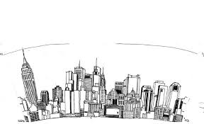 new york skyline drawing clip art library