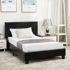 Faux Bed Frame Size Faux Leather Platform Bed Frame Slats Upholstered