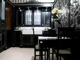 Painting Kitchen Cabinets Black Cabinet Paint Colors With White - Painting kitchen cabinets with black chalk paint