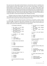 Comprehension Worksheets For Grade 8 Reading With 10 Multiple Choice Questions Worksheet Free Esl