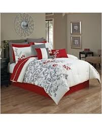 Washer Capacity For Queen Size Comforter Don U0027t Miss This Deal Portola 12 Piece Comforter Set Red White