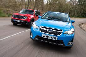 subaru crosstrek forest green subaru xv vs jeep renegade auto express