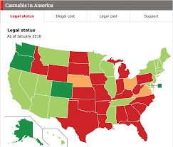 Medical Marijuana Legal States Map by Comments On Daily Chart Marijuana And The Disjointed States Of