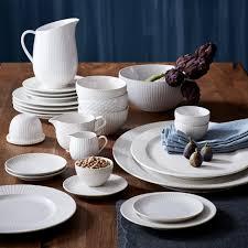 textured dinnerware set white west elm