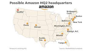 Amazon Seattle Map by Here Are The Cities That Meet The Criteria For Amazon U0027s Second