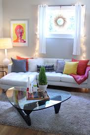 comely colorful living room decoration using small plant coffee