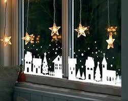 christmas window decorations christmas window etsy