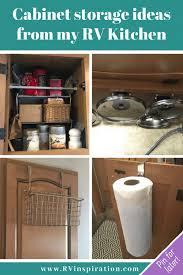 rv kitchen cabinet storage ideas 20 rv kitchen space saving ideas rv living