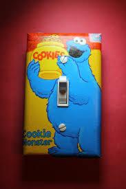 Kids Bedroom Lights Sesame Street Cookie Monster Cookie Jar Light Switch Cover Boys