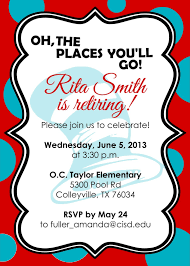 Teachers Day Invitation Card Quotes Retirement Party Invitations Free Templates Fun Stuff