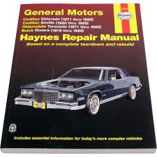 haynes repair manual new olds cadillac seville eldorado buick
