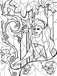 stained glass sleeping beauty coloring sheet mandie manzano