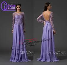 aliexpress com buy new fashion lilac applique long sleeve