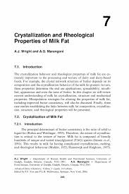 crystallization and rheological properties of milk fat springer