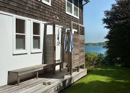 Simple Outdoor Showers - teal outdoor shower ideas that are undoubtedly home decorating